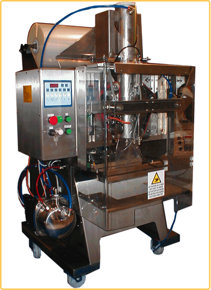 Packaging machine for liquids in sachets