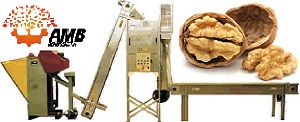 Nut shelling and cleaning line AMB Rousset